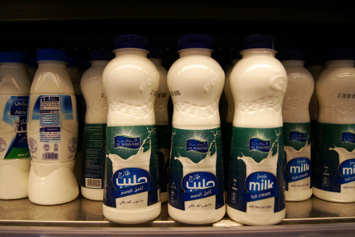 Products from Al Rawabi are sold in supermarkets across the UAE. Milk has a fixed price in this region, as controlled by the government.