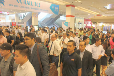 Visitors queuing up for the - so far - last edition of VIV Asia, held in March 2019. - Photo: Vincent ter Beek
