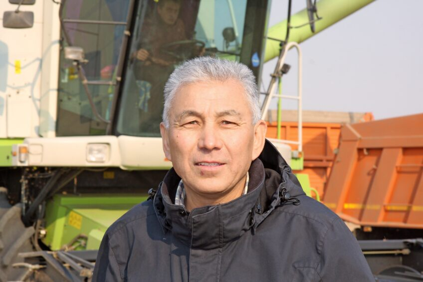 Kuanysch Rakischev is a farmer with ambition to grow. Photo: Martijn Knuivers