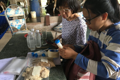 Labelling of milk samples to be tested for the presence of mycotoxin.
