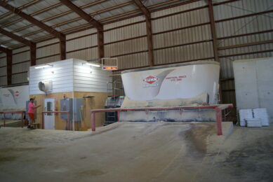 Dairy farmer built a smart feed centre to control shrink. Photos: Emmy Koeleman
