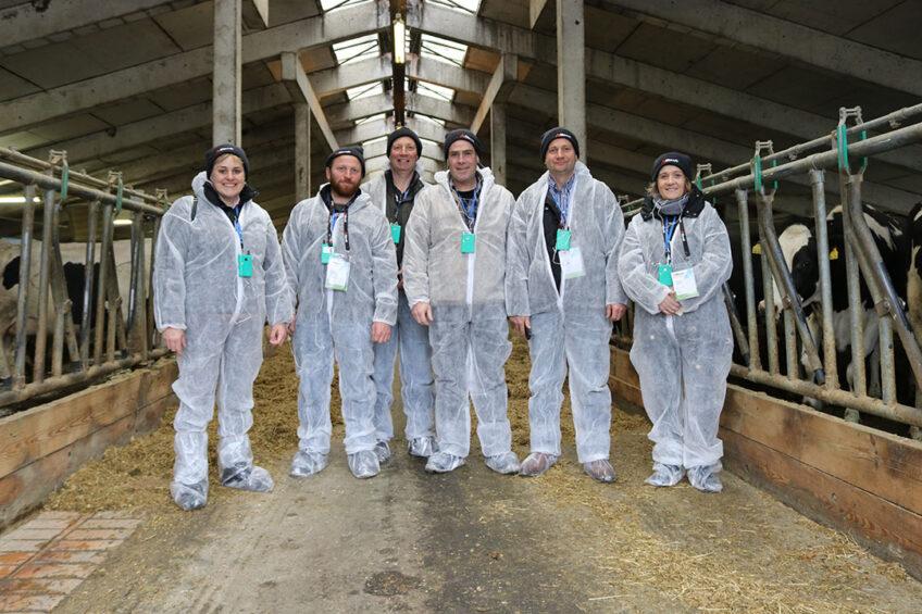 Farmers take plane to visit 7 dairy farms. Photo: Alltech