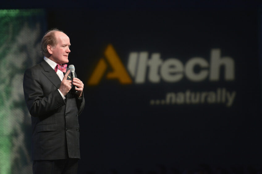 Dr Pearse Lyons presents during the Alltech 30th Annual International Symposium in Lexington, KY, United States. Photo: Alltech