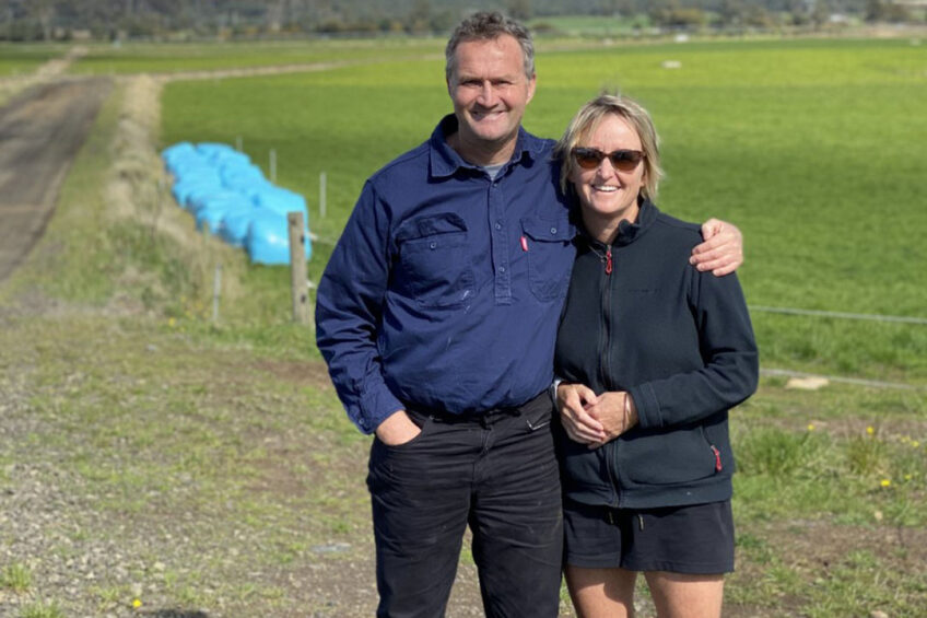 Grant and Kim Archer have won the 2020 ANZ Tasmanian Dairy Business of the Year Award. Photo: Active Dairies