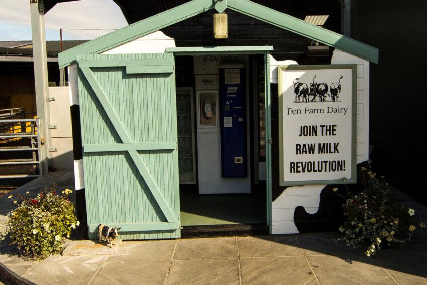 UK dairy farmers look at milk vending machines