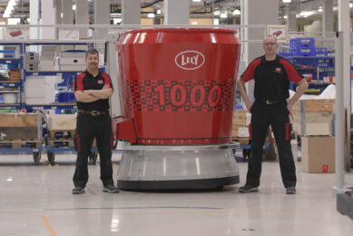 1000th Vector feeding system has been produced by Lely. Photo: Lely