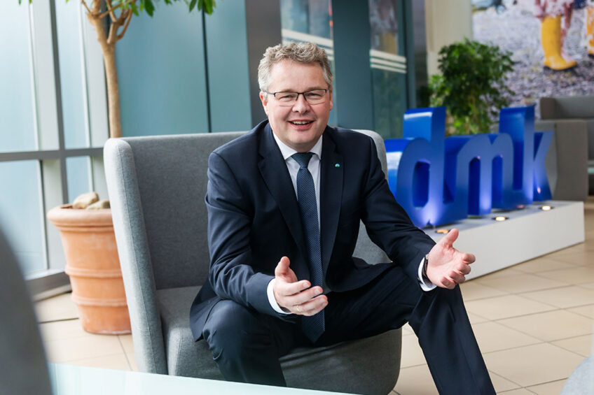 """DMK CEO Ingo Müller: """"Our task is now to reap the benefits of our investments and to close the gap regarding the milk price, so we will get to the place where DMK belongs: above average, both permanently and consistently.  Photo: DMK"""