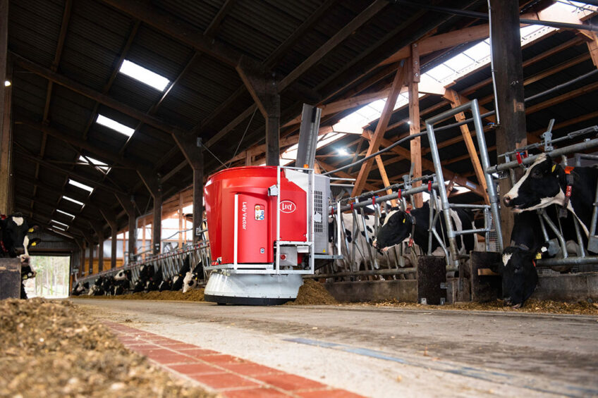 Lely is at the forefront of dominant market shares in milking and feeding robots. Photo: Lely