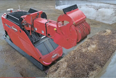 With 3 cubic metres, the Aura is a good for feeding 250 to 300 animals. Photo: Kuhn