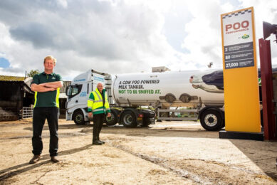 The 3-month test will involve 2 special Arla tankers that have been adapted to run on biofuel transporting milk between dairy processing sites. Photo: Arla