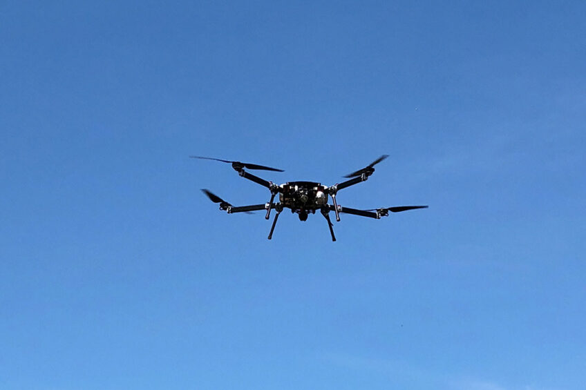 Drones have proven to be as accurate as the traditional methods of measuring pasture. Photo: Skyfront