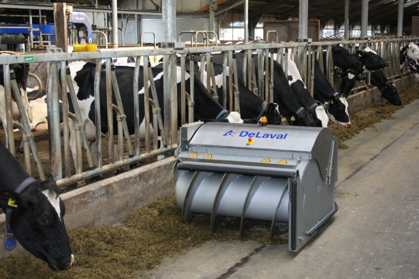DeLaval introduces new robotic feed pusher. Photo: Frits Huiden