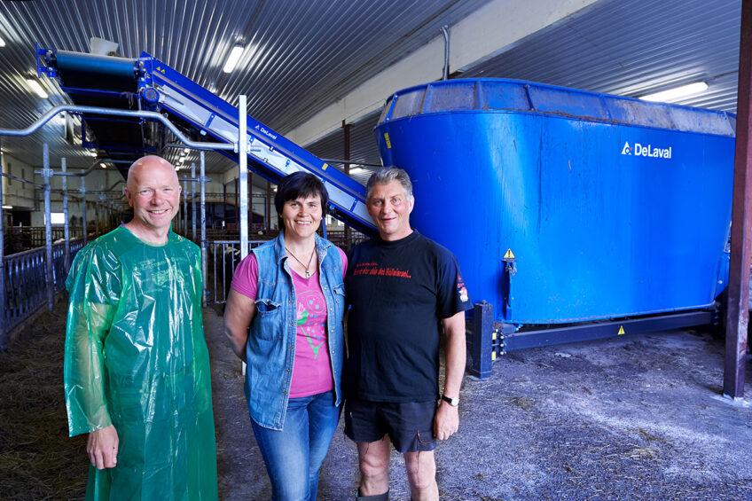 Norwegian dairy farmer profits from automatic feeding