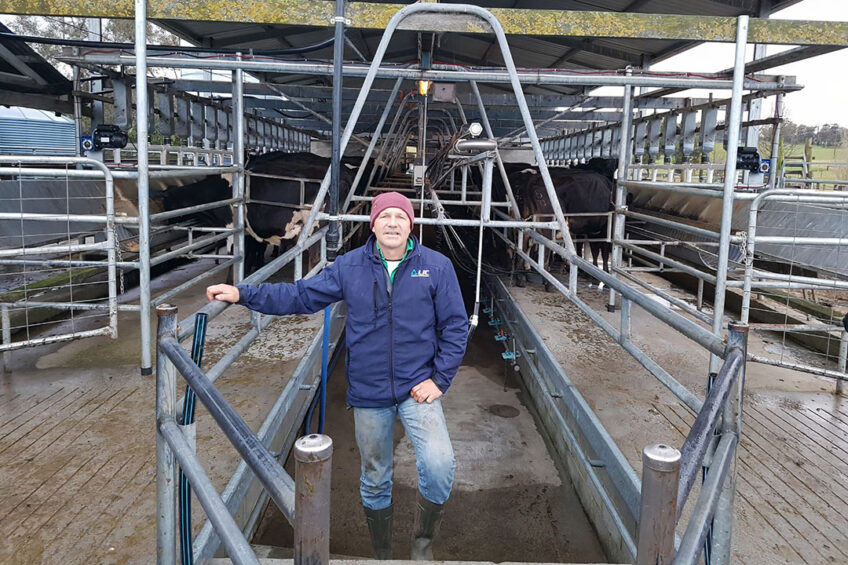 """David Macalister: """"This system offers far more flexibility than milking twice a day."""" Photo: Macalister Farm"""
