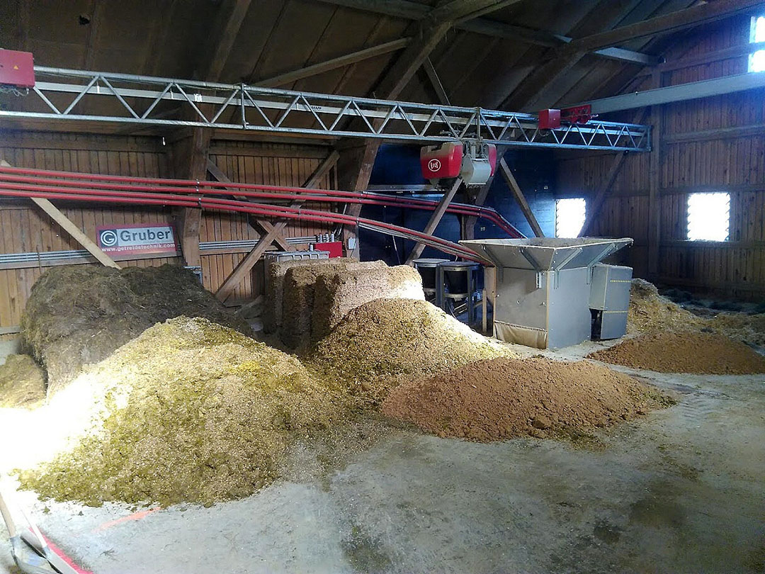 Ingredients are stored for the Lely Vector feeder to mix rations. Photo: Chris McCullough
